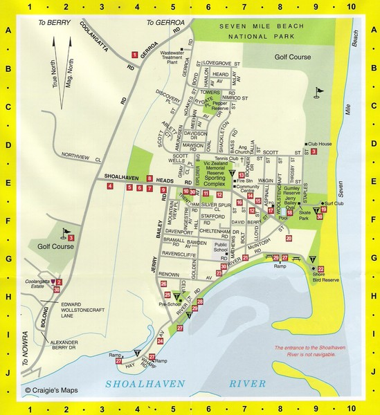 Shoalhaven Heads Town Map
