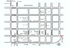 Shopping Guide, Downtown Abilene, Texas Map