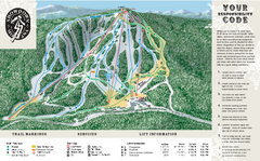 Showdown Ski Area Ski Trail Map