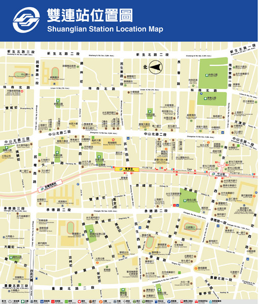 Shuanglian Station Map