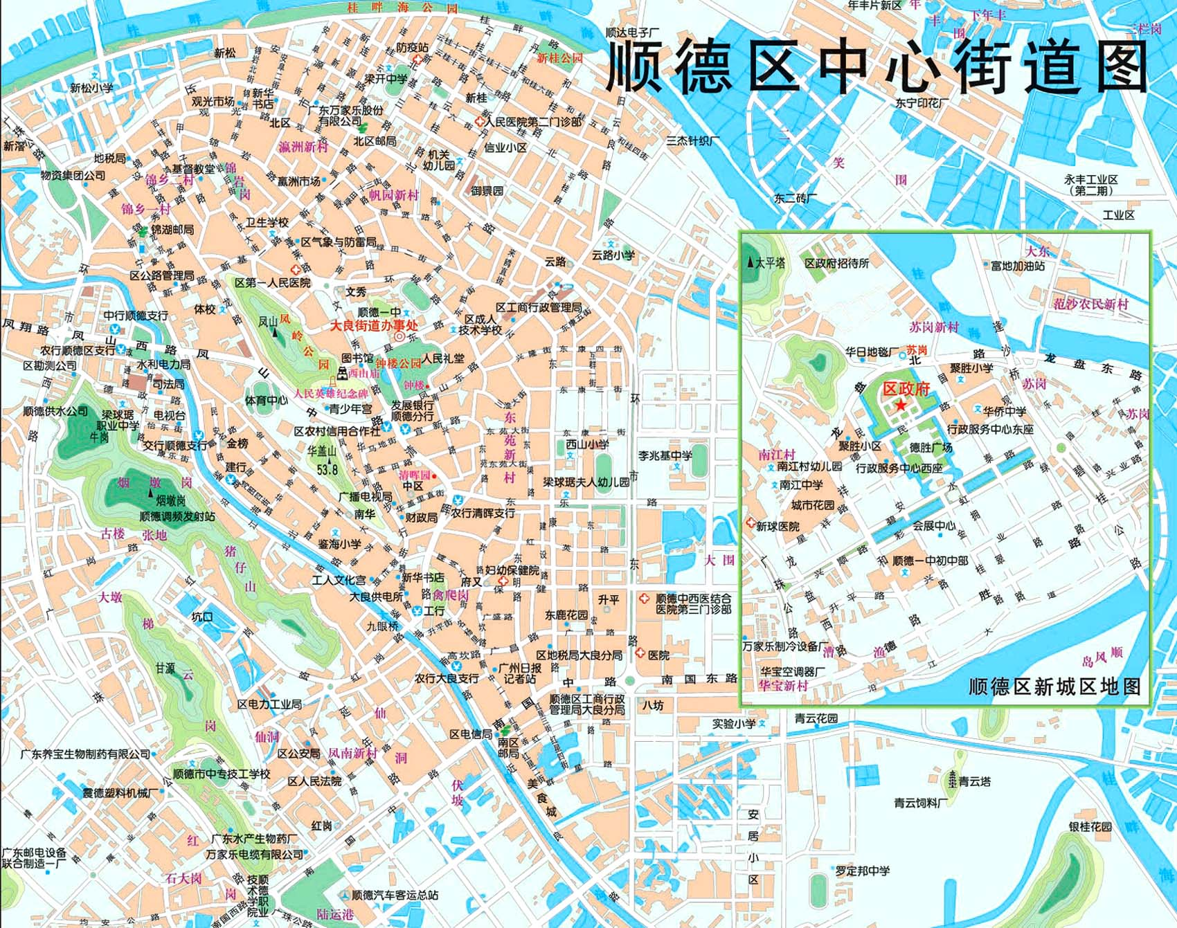 Shunde Tourist Map See map details From shunde-hotels.com