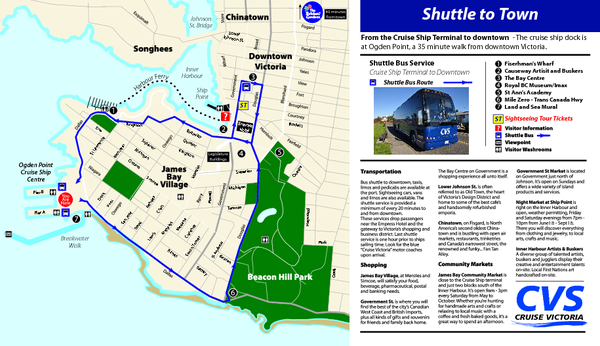 Shuttle to Town Map
