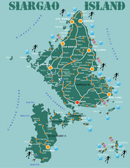 Siargao Island Diving Map