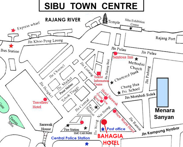 Sibu Tourist Map