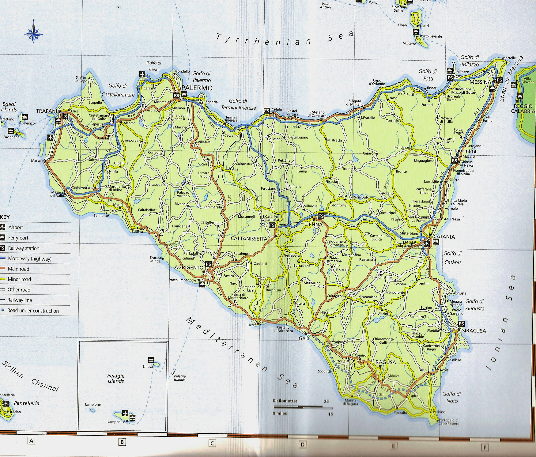 Sicily Map Sicily mappery