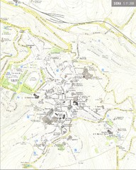 siena map - siena it ? mappery - Bagno Vignoni Map