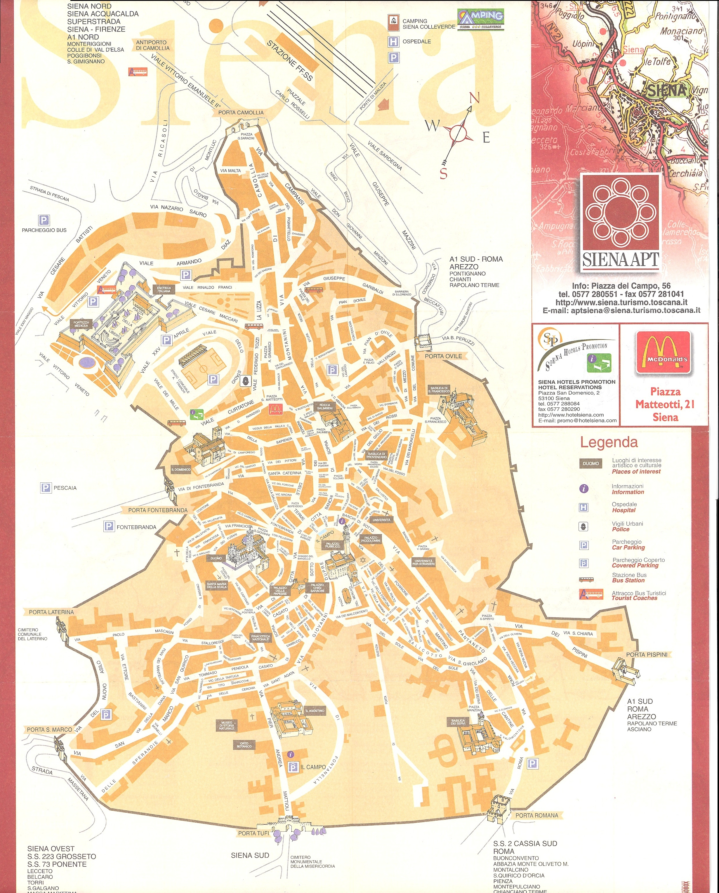 siena map  siena it • mappery -