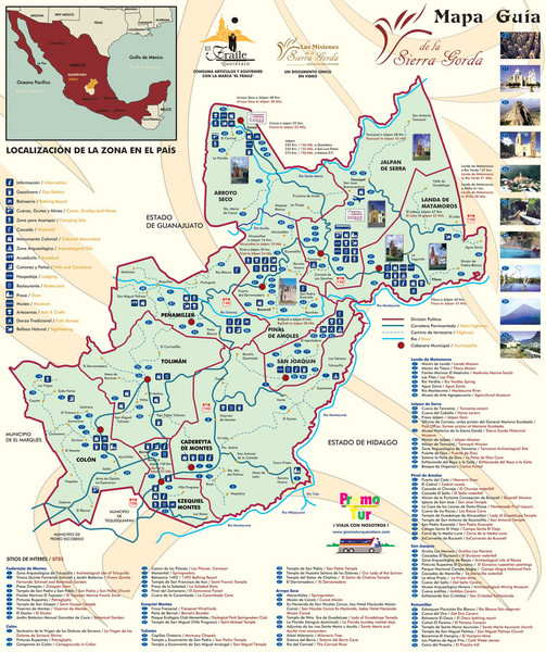 Sierra Gorda de Queretaro Tourist Map
