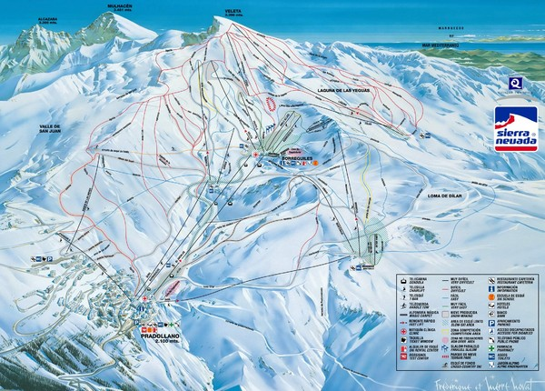 Sierra Nevada Sierra Nevada Ski Trail Map