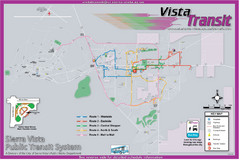 Sierra Vista Transit Route Map