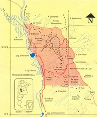 Sierra de las Quijadas National Park Map
