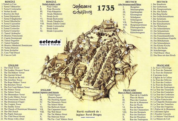 Sighisoara Town Map 1735