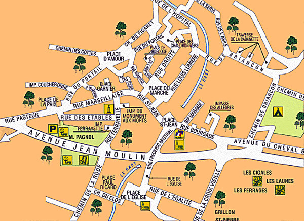 Signes Map Signes mappery – Toulon Tourist Map