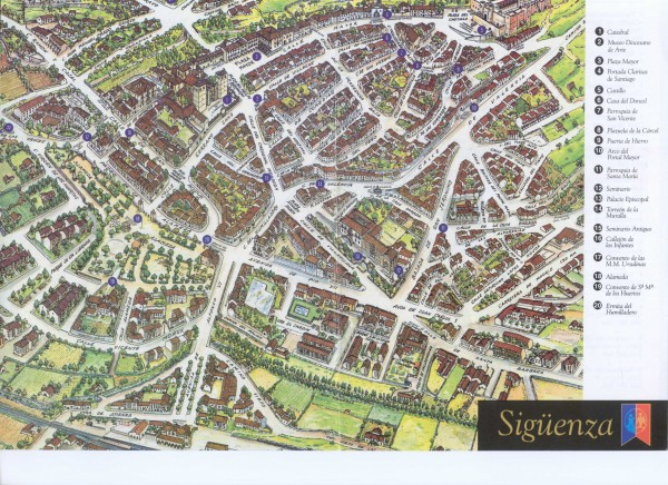 Siguenza Tourist Map Siguenza Spain mappery – Tourist Map of Madrid