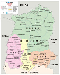 Sikkim Travel Map