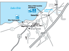 Silver Creek and Irving Map