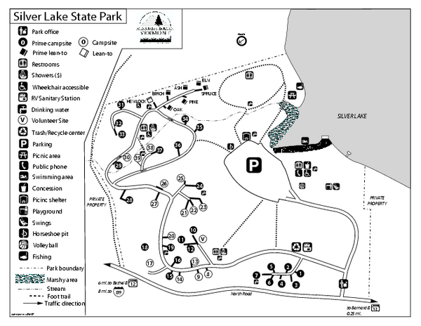 Silver Lake State Park Campground Map