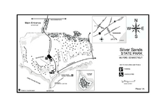 Silver Sands State Park map