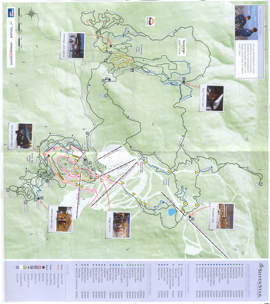 Silver Star Mountain Resort Nordic Ski Trail Map