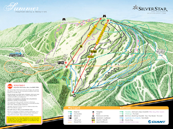 Silver Star Mountain Resort Summer Ski Trail Map Mappery - How to read a star map