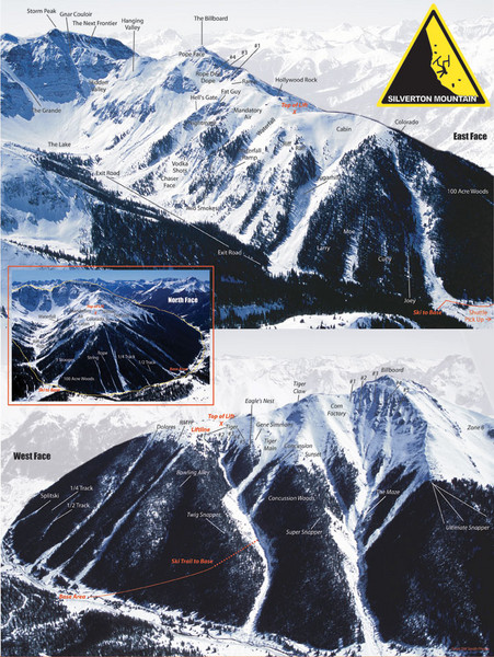 Silverton Ski Trail Map