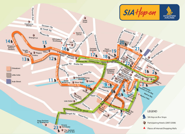Singapore maps mappery – Singapore Tourist Map