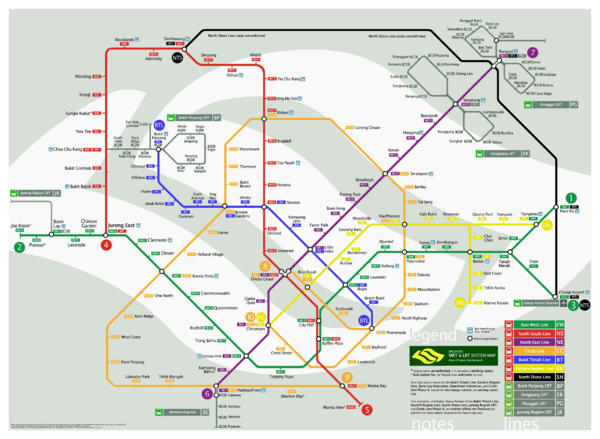 Singapore Future Railway System Map