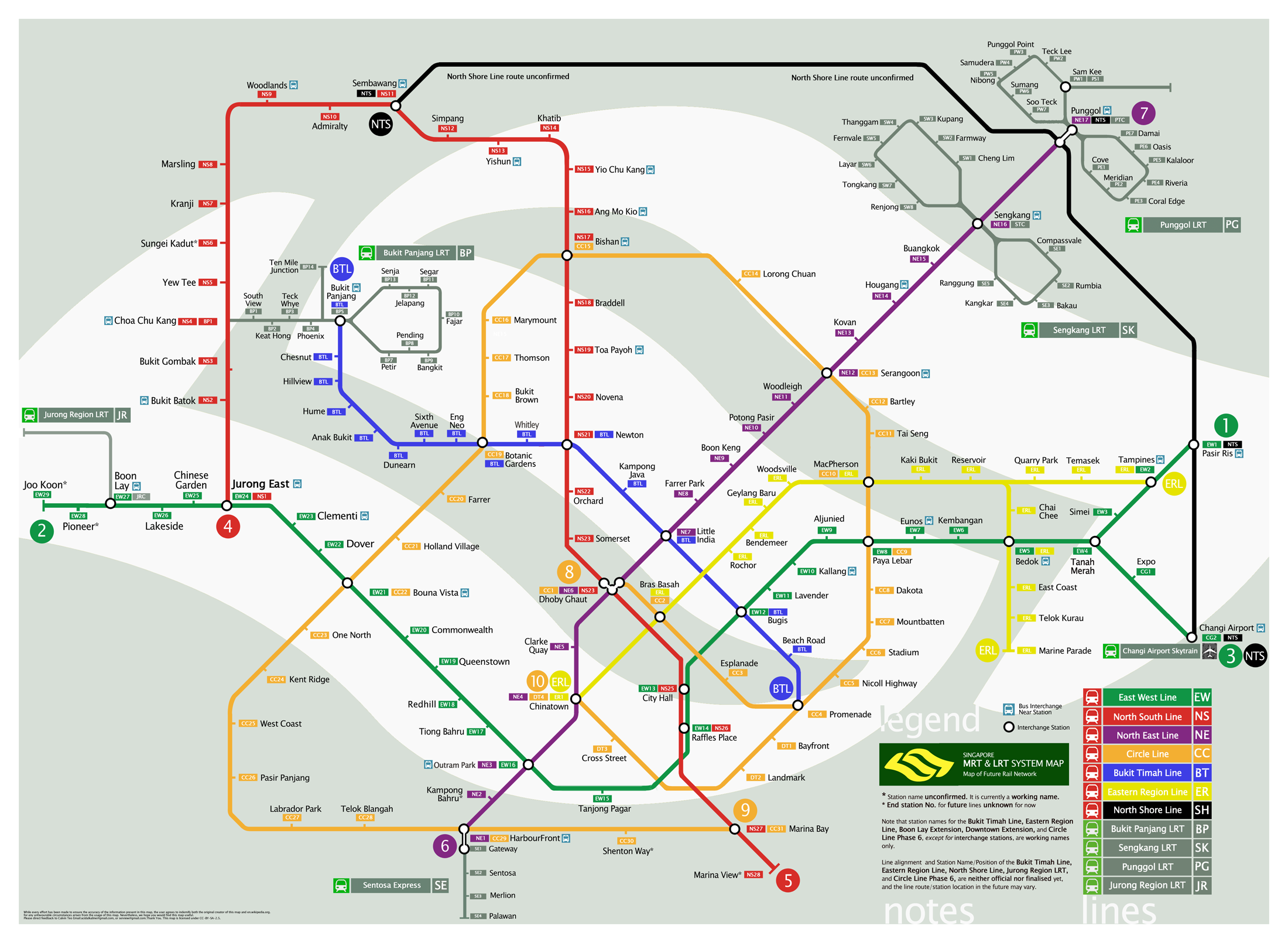 Singapore Future Railway System Map - Singapore ��� mappery
