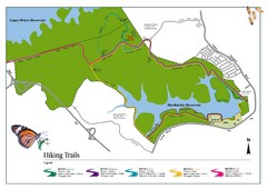 Singapore Island Nature Reserve Hiking Map