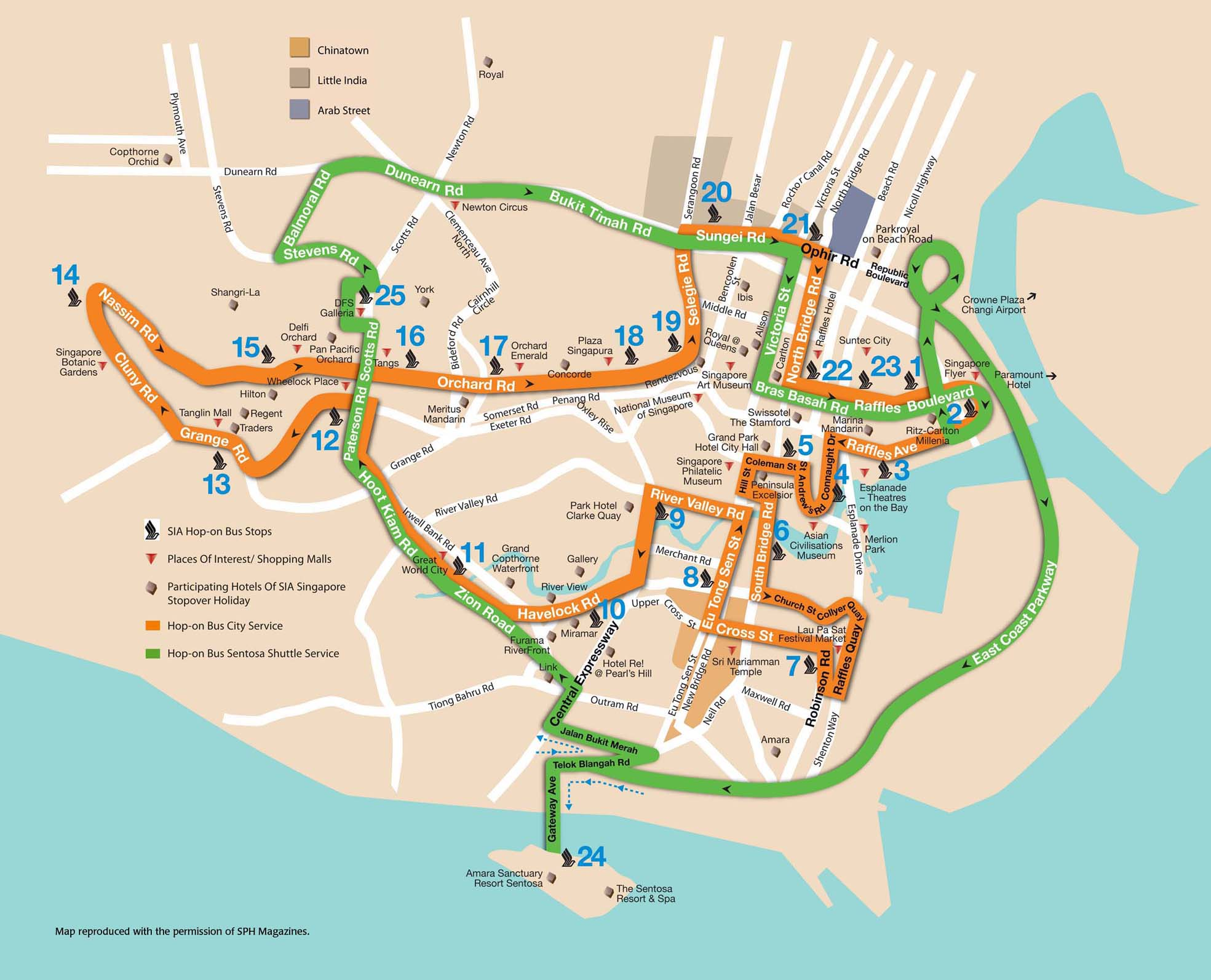 Singapore Tour Bus Map Singapore mappery – Singapore Tourist Map