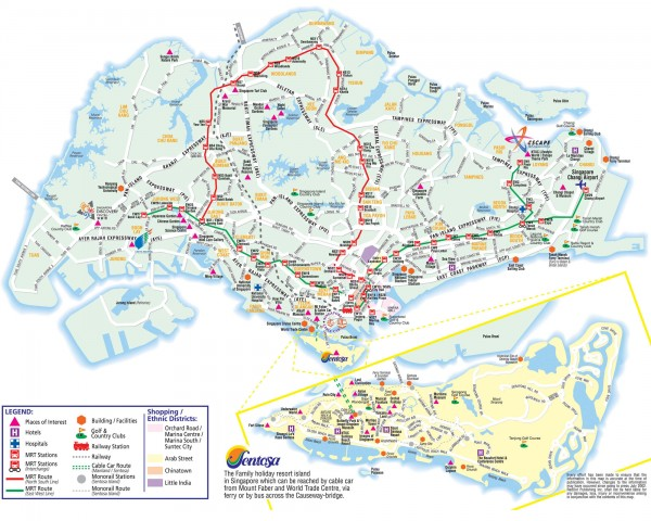 Singapore Tourist Map - Singapore • mappery