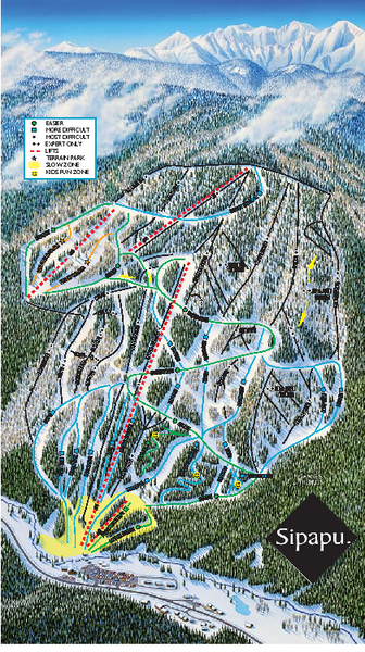 Sipapu Ski Area Ski Trail Map