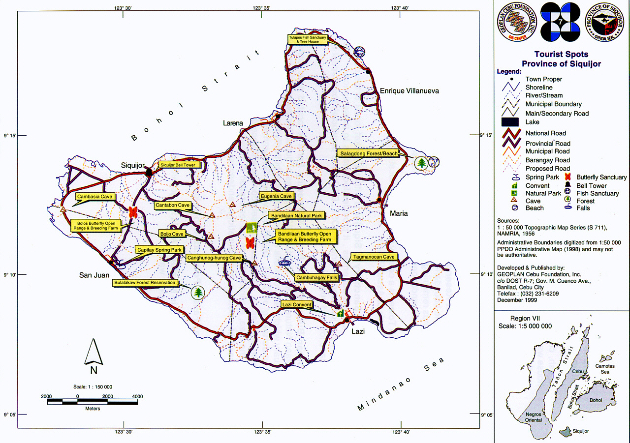 siquijor island tourist map  siquijor • mappery -