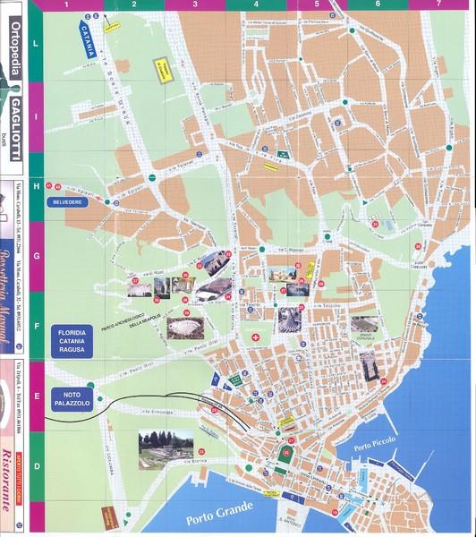 Pachino Tourist Map Pachino Sicily mappery – Sicily Tourist Map