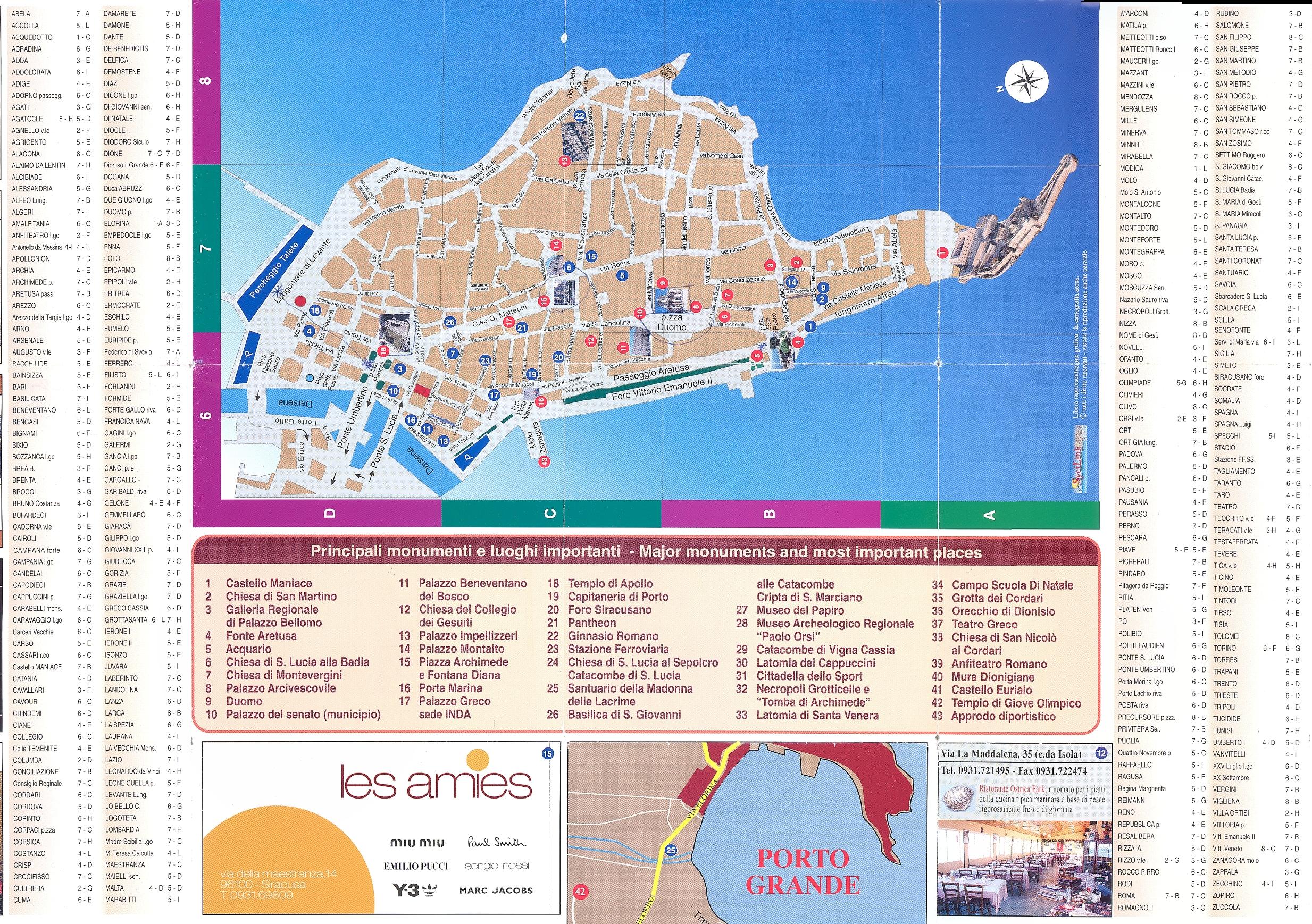 Siracusa Ortigia Map siracusa it mappery