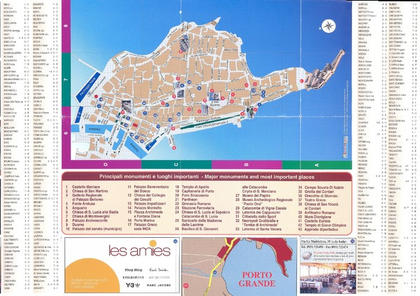 Siracusa Ortigia Map siracusa it mappery