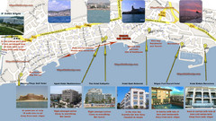 Sitges Hotel Map