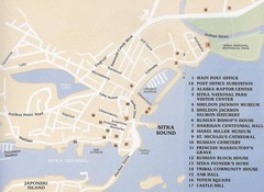 Sitka Downtown Map