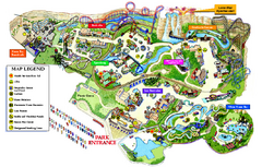 Six Flags Fiesta Texas Map