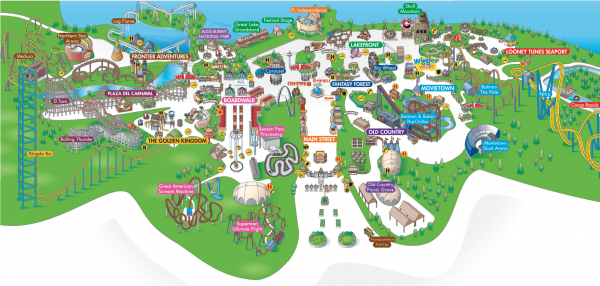 six flags great adventure map 2011. Six Flags Great Adventure -
