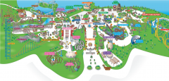 Six Flags Great Adventure Theme Park Map