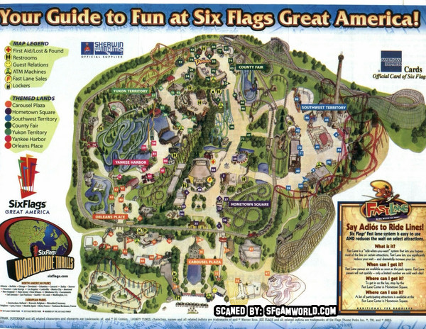 Six flags great america map six flags great america mappery fullsize six flags great america map gumiabroncs Choice Image
