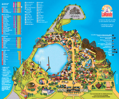 Six Flags La Ronde Theme Park Map