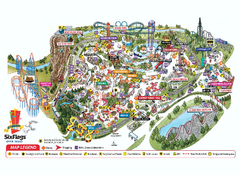 Six Flags Over Texas Theme Park Map