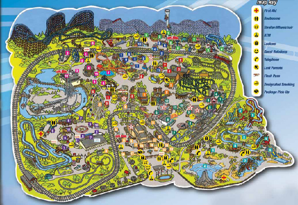 Six Flags St Louis Map Eureka MO 63025 mappery – St Louis Tourist Attractions Map