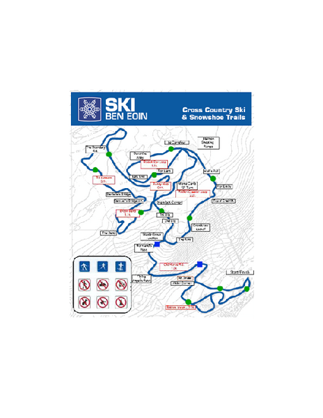 Ski Ben Eoin Nordic Ski Trail Map