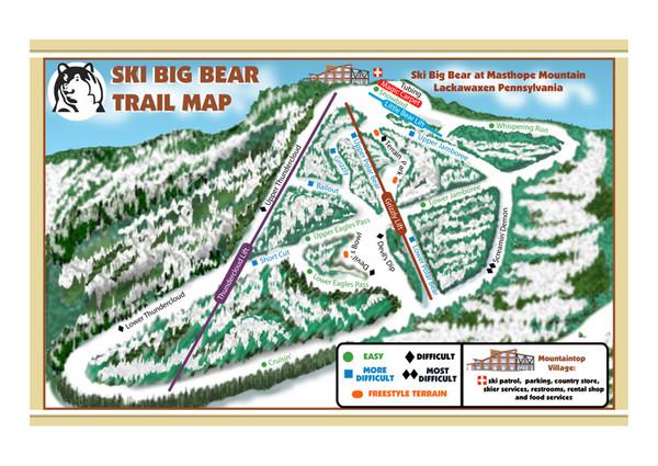 Ski Big Bear Ski Trail Map - Masthope Mtn Rowland PA • mappery Ski Pennsylvania Map on home pennsylvania map, city pennsylvania map, ski slopes in pennsylvania, snow pennsylvania map, golf pennsylvania map, ski resorts in pa, skiing in pennsylvania map, montage mountain trail map, ski mountains in pennsylvania, skiing in pocono pa map, hunting pennsylvania map, drifting pennsylvania map, mountain pennsylvania map, ski big bear pennsylvania,