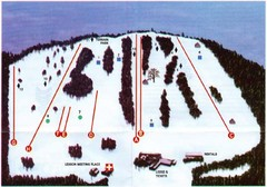 Ski Bradford Ski Trail Map