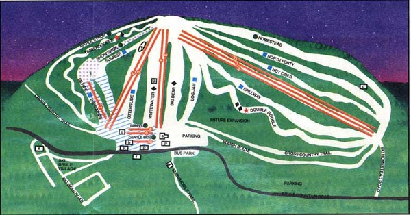 Ski Brule Ski Trail Map