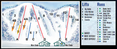 Ski Dagmar Ski Trail Map